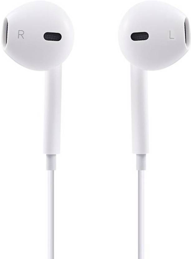477db67f2ac NeroEdge Apple Earphones Headphones Earpods Earbuds With Mic For Apple  iPhone / iPad / iPod Wired Headset with Mic (White, In the Ear)