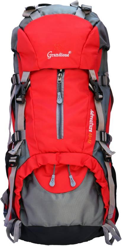 c97b705b23 GRANDIOSE 45+5L Red Hiking Backpacks and Rucksack bags (GTB65002RD)  Rucksack - 50 L (Multicolor)