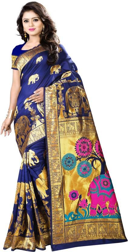 Aksh Fashion Self Design, Woven Paithani Banarasi Silk, Art Silk Saree