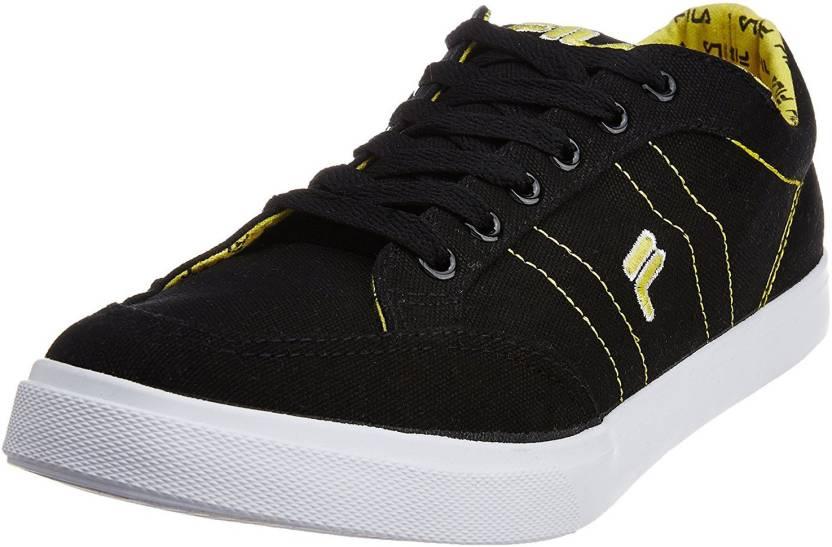 Fila Men's Zovi Black and Yellow Sneakers -9 UK/India (43 EU ...