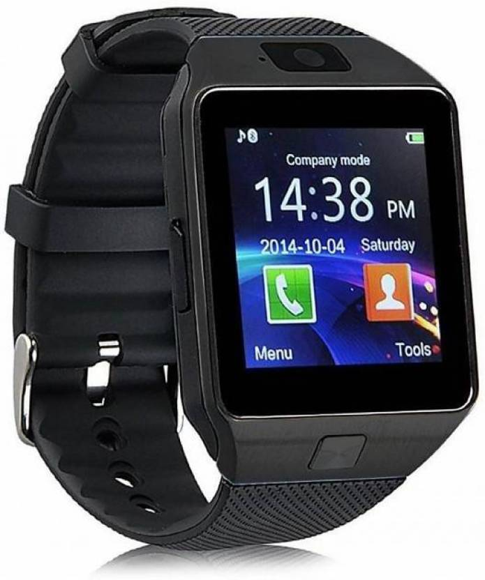 df4b56371 MOBILE FIT M9 BLACK Bluetooth Smart Watch Phone With Camera and Sim Card  Support With Apps