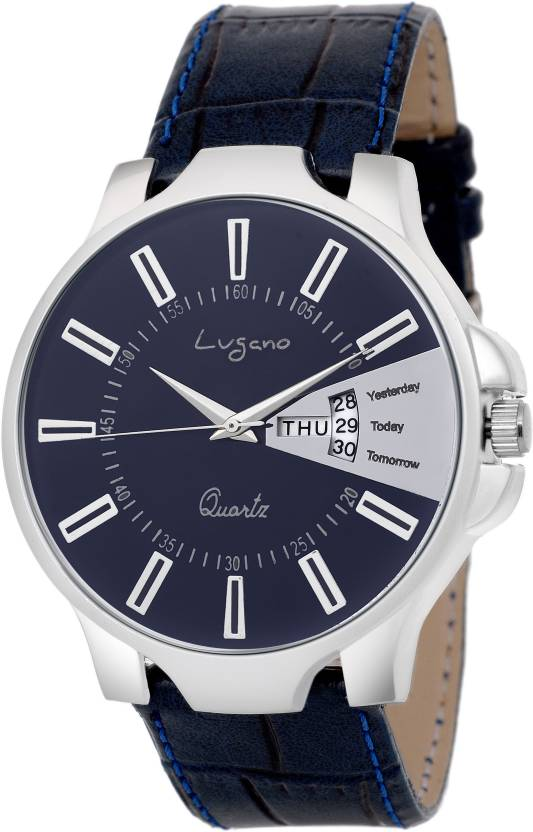 dc554b119 Lugano LG 1135 Classic and Stylish Slim Leather Watch Analog Watch - For Men