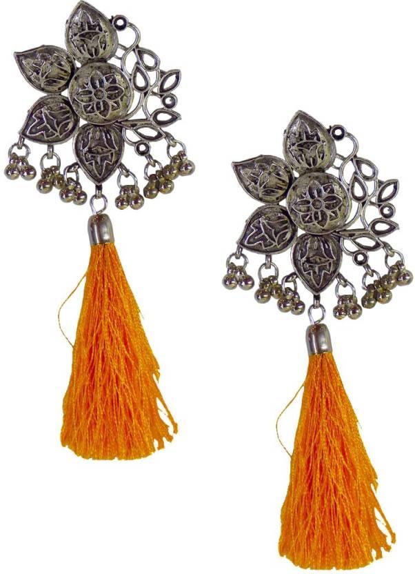 a6446616b Flipkart.com - Buy KAVOO Fashion Stylish Oxidised Afghani Tribal Fancy  Party Wear Earrings for Girls and Women Alloy Chandbali Earring Online at  Best Prices ...