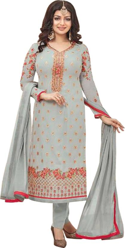 72213fd88d IndianEfashion Georgette Embroidered Semi-stitched Salwar Suit Dupatta  Material Price in India - Buy IndianEfashion Georgette Embroidered Semi- stitched ...