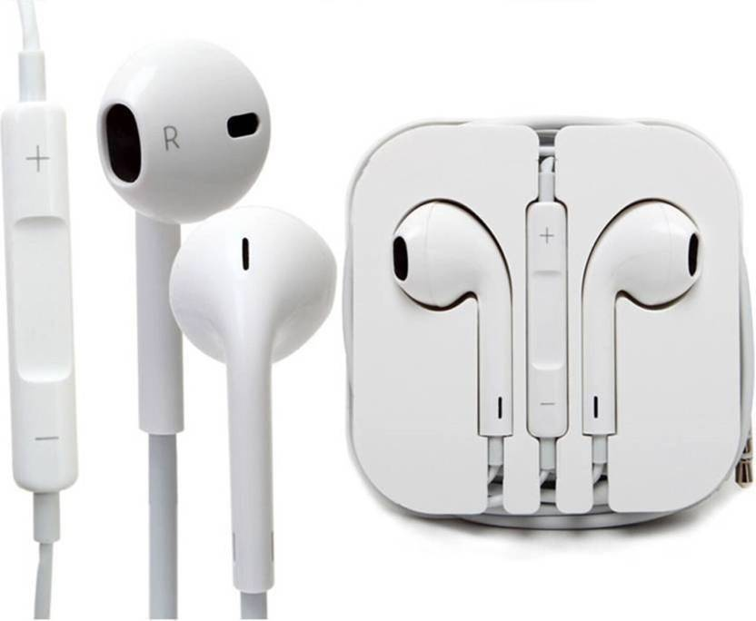 a218844470d ZebZap Apple EarPods with 3.5mm Headphone Plug (MNHF2ZM/A) Wired Headset  with Mic (White, In the Ear) Wired Headset with Mic (White, In the Ear)
