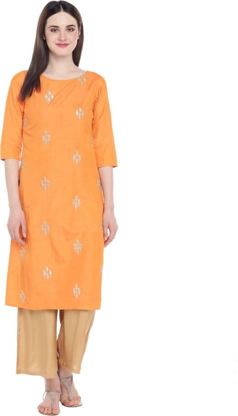 fdd875a37 Trishaa by Pantaloons Women s Embroidered A-line Kurta - Buy Trishaa ...