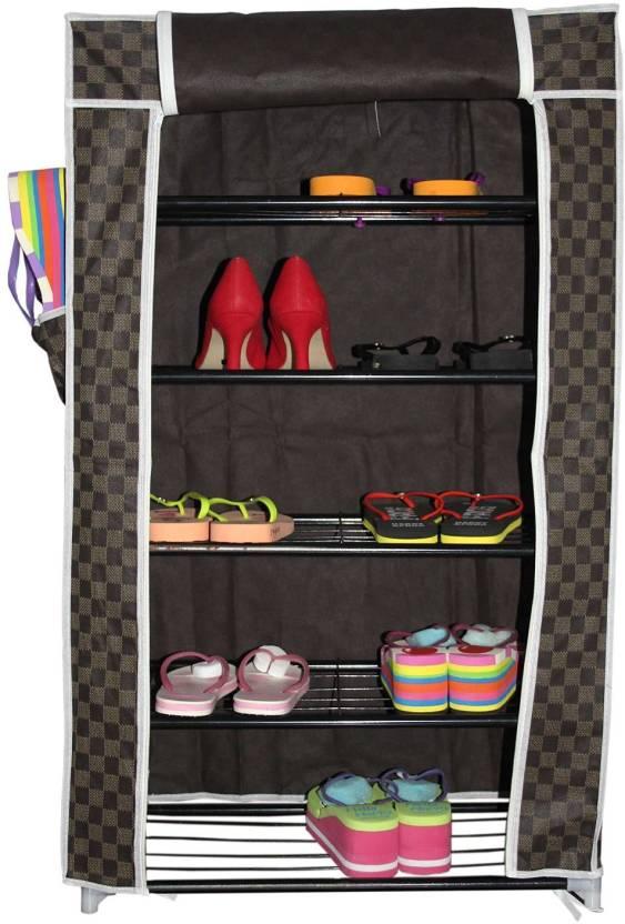 KriShyam Metal Collapsible Shoe Stand 5 Shelves