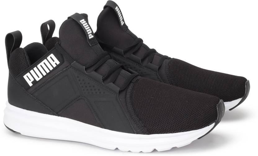 Puma Enzo Mesh Running Shoes For Men - Buy Puma Black-Puma White ... 79347a592