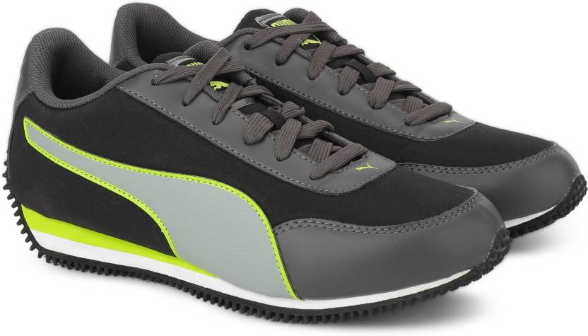 Puma Halley IDP Sneakers For Men - Buy Black-Limepunch Color Puma ... 3809a0b67