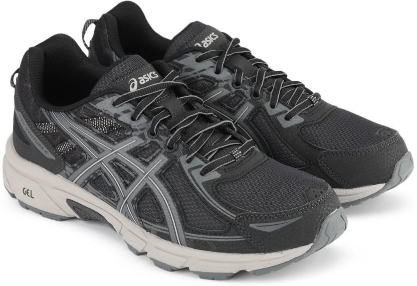 c9bff37372 Asics GEL-VENTURE 6 Running Shoes For Men - Buy BLACK/DARK GREY ...
