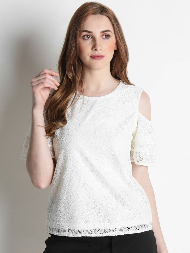 5dc9bab4b40e99 Honey By Pantaloons Casual Half Sleeve Printed Women's White Top - Buy  White Honey By Pantaloons Casual Half Sleeve Printed Women's White Top  Online at Best ...