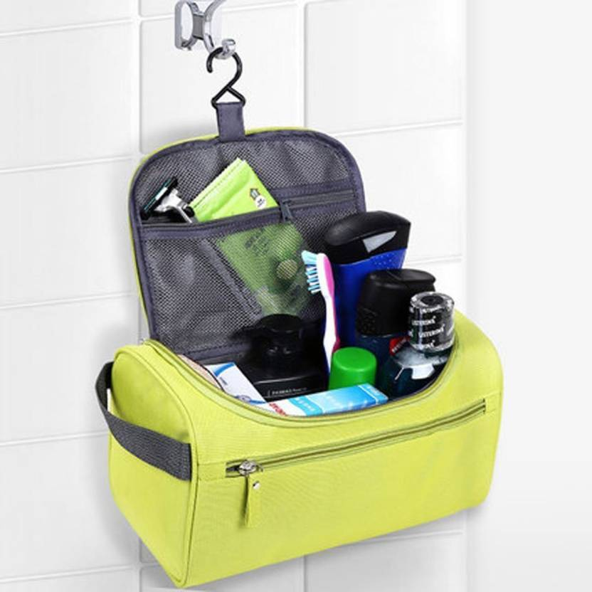 38c60c23adad House of Quirk Hanging Fabric Travel Toiletry Bag Organizer and Dopp Kit  Hanging Bag Travel Toiletry Kit (Green)