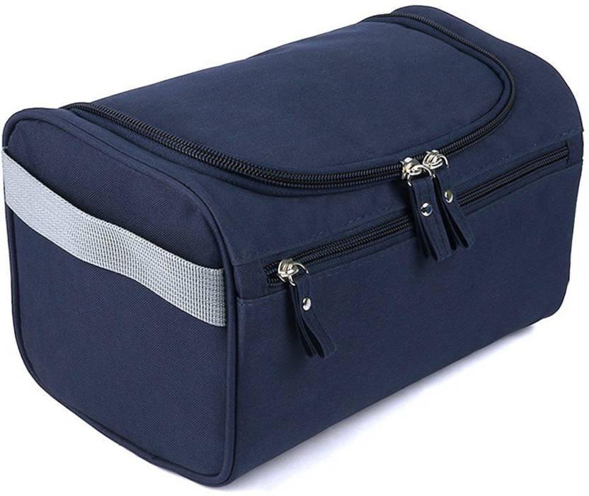 b6722d2a7b18 House of Quirk Hanging Fabric Travel Toiletry Bag Organizer and Dopp Kit  Bag Travel Toiletry Kit (Blue)