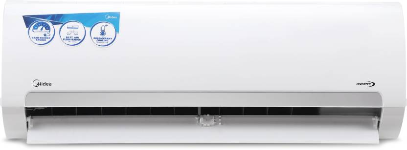 Midea 1.5 Ton 3 Star BEE Rating 2018 Inverter AC  - White  (18K Santis Pro - MAI18SP3N8F0, Copper Condenser)