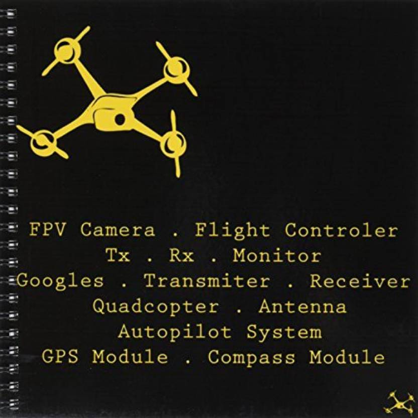 3dRose db_179979_1 Black & Yellow Drone with DIY