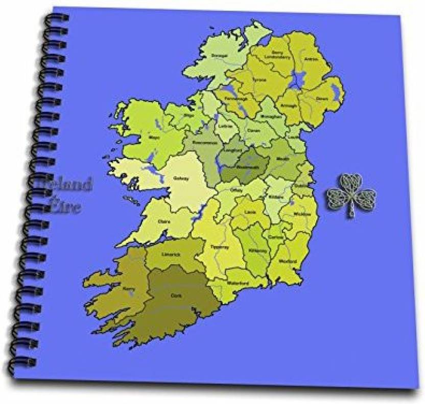 Map Of Ireland Book.3drose Db 110030 2 Colorful Green Map Of All Ireland The Irish