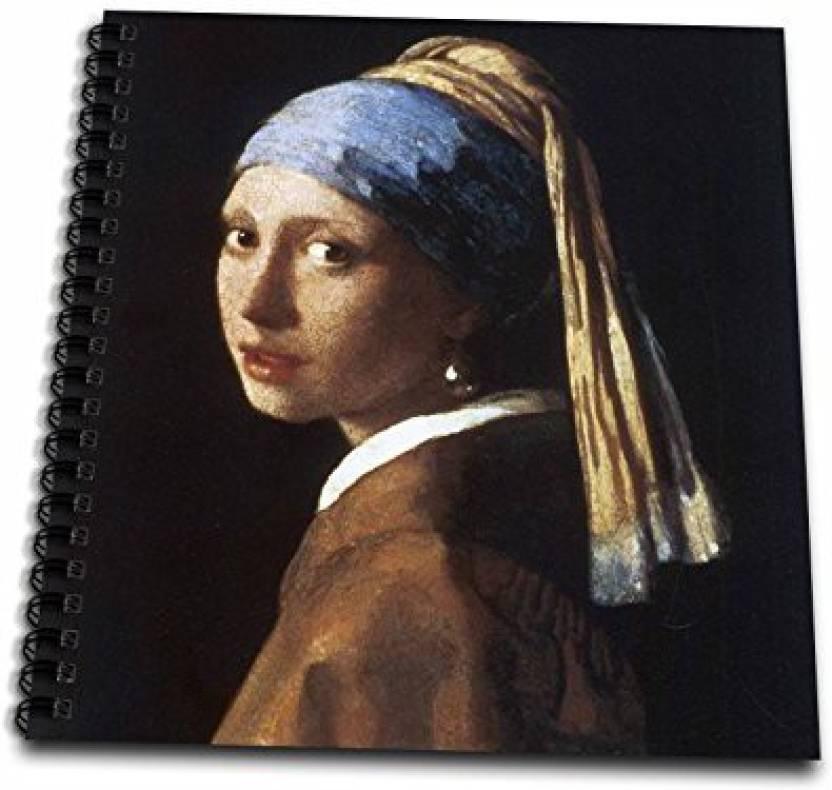 Rose Db 128108 2 With A Pearl Earring By Jan Vermeer Memory Book 12