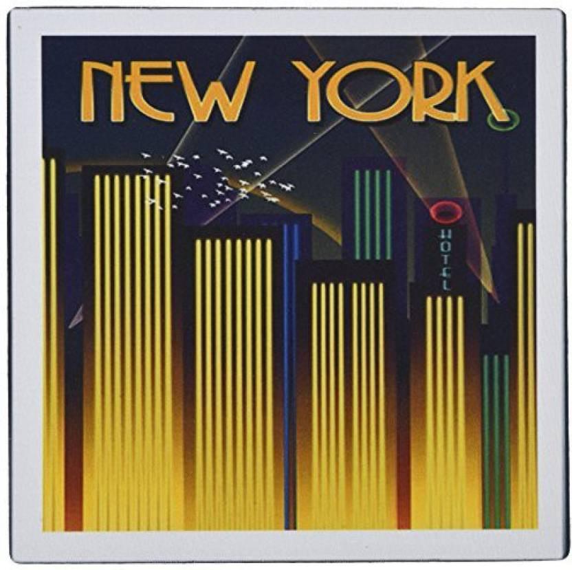 Art Deco Poster New York.3drose Llc 8 X 8 X 0 25 Inches Art Deco New York Poster Mouse Pad
