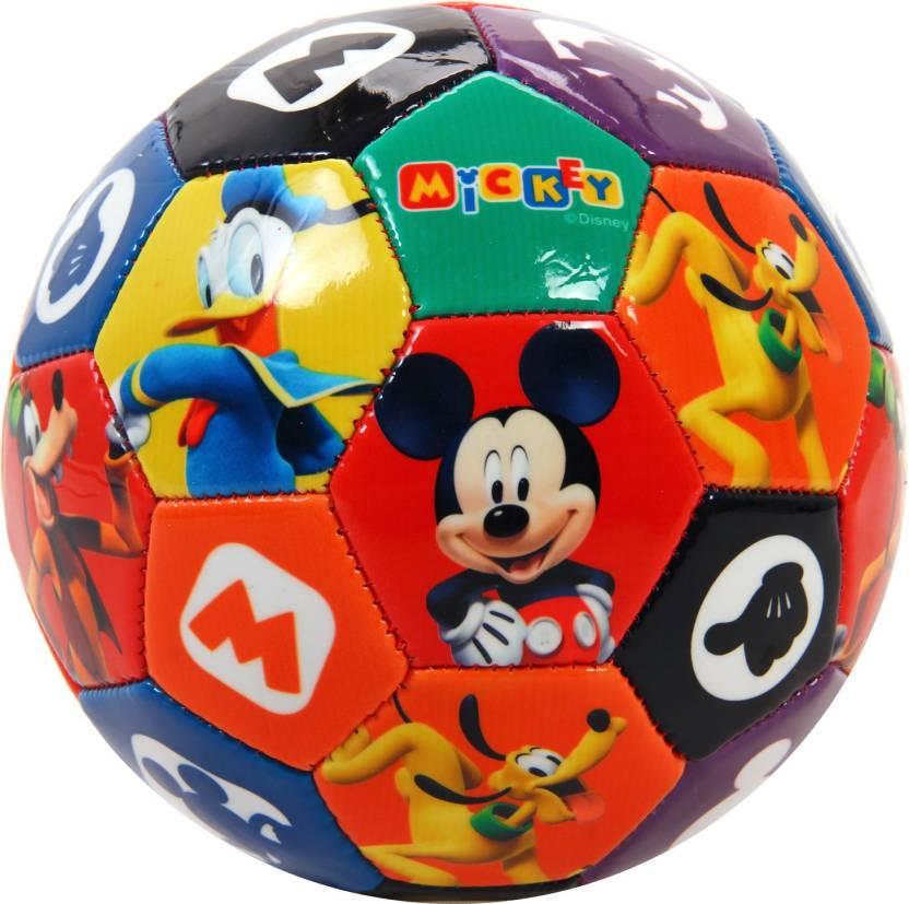 be61c0e09bc9b Disney Mickey Mouse PVC football Soccer Ball Football - Size  2 (Pack of 1