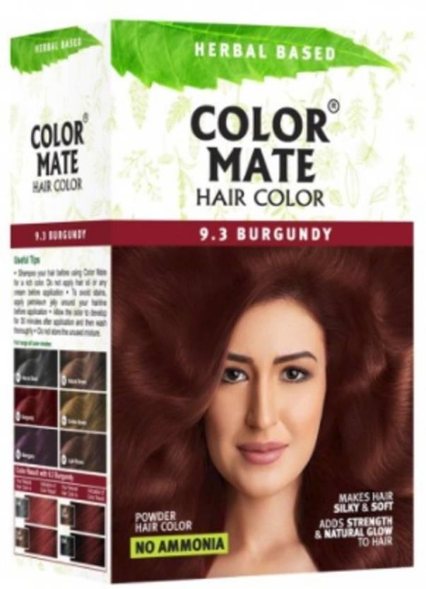 Color Mate Herbal Based Hair Color, 9 3 Burgundy Hair Color