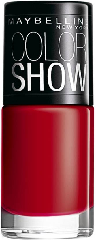 Maybelline Color Show 216 Downtown Red - Price in India, Buy ...