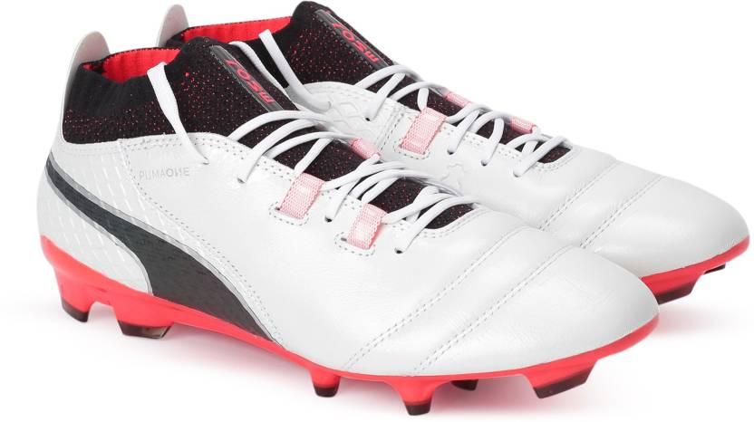 ea433276ecaa2b Puma ONE 17.1 FG Football Shoes For Men - Buy Puma White-Puma Black ...