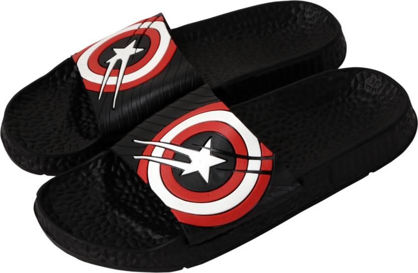 27b0d0562c724f Falcon18 Men s Slide Slippers and Flip-Flops In Captain America Design  Slides - Buy Falcon18 Men s Slide Slippers and Flip-Flops In Captain  America Design ...