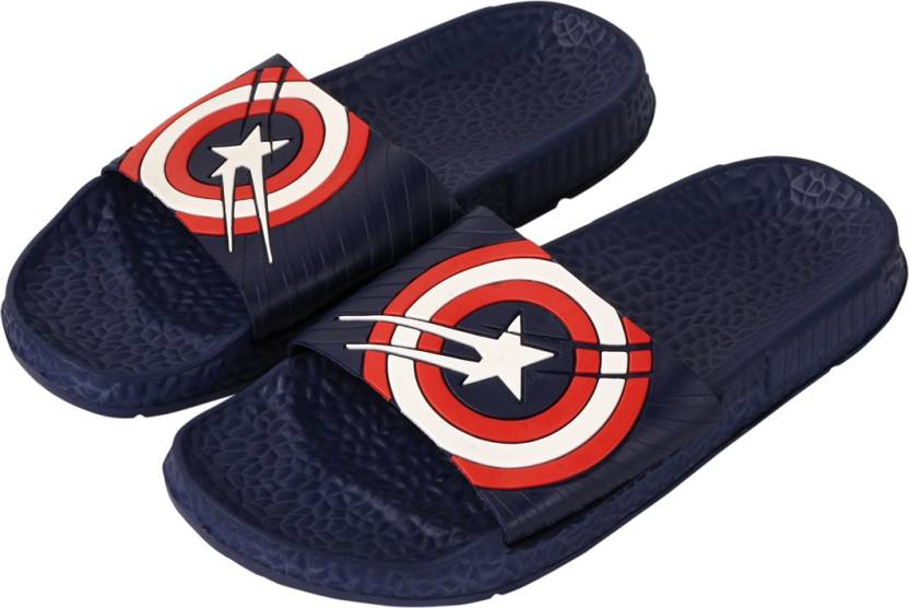 63a4a9e0a918 Falcon18 Men s Slide Slippers and Flip-Flops In Captain America Design  Slides - Buy Falcon18 Men s Slide Slippers and Flip-Flops In Captain America  Design ...