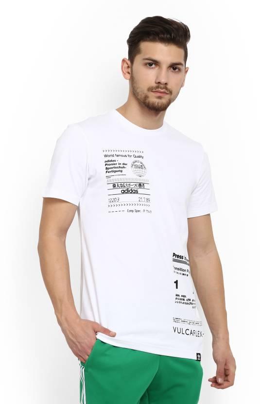 fc43a873709 ADIDAS ORIGINALS Printed Men s Round Neck White T-Shirt - Buy White ADIDAS  ORIGINALS Printed Men s Round Neck White T-Shirt Online at Best Prices in  India ...