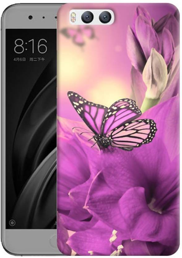 d7fe691a5 Humor Gang Back Cover for xiaomi mi 6 (Purple Pretty Butterfly Printed  Designer