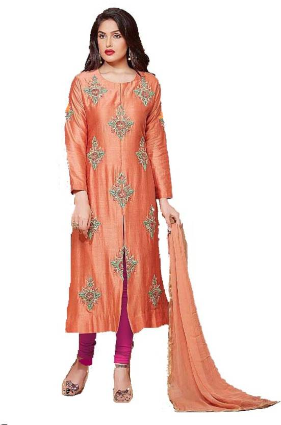 fa332a58d D.S.FABRICS Cotton Embroidered Semi-stitched Salwar Suit Dupatta Material  Price in India - Buy D.S.FABRICS Cotton Embroidered Semi-stitched Salwar  Suit ...