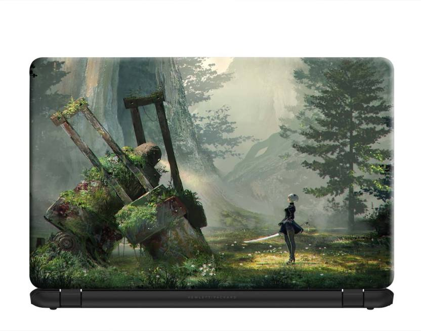 100yellow Nier Automata Gaming Laptop Skins 15 6 Inches For Lenovo