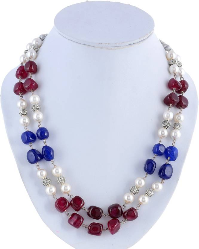 d58d249981 Kastiya Jewels Two Layer Multi Colored Quartz Gemstone & Pearl Beads Kanta  Necklace for Women Quartz Stone Necklace Price in India - Buy Kastiya  Jewels Two ...