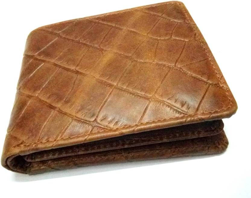 cee22723eae Generic Men Brown Genuine Leather Wallet Brown - Price in India ...
