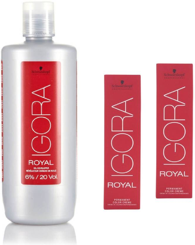 496b404085 Schwarzkopf Igora Royal Permanent color crème 5-99 Light Brown violet Extra(2tube)  60mL+ Igora Oil Developer 1000 mL (Set of 3)