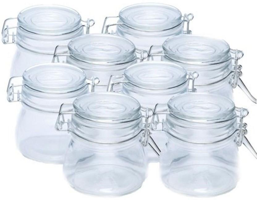 Mini Tea Can Preserve Metal Sealed Jars Glass Food Airtight Kitchen Storage Cont