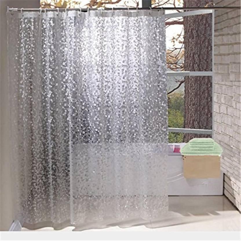 Khushi Creation 108 Cm 4 Ft Pvc Shower Curtain Single