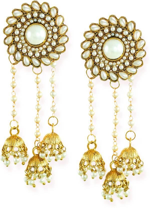 567c728ad68 Flipkart.com - Buy Zaveri Pearls Traditional Dangling Jhumki Zinc Jhumki  Earring Online at Best Prices in India