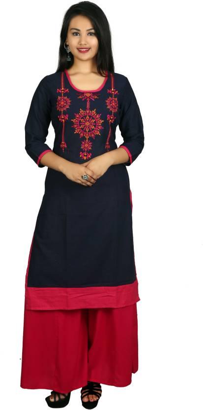 09b5dc89c3 Sangria Women's Kurta and Palazzo Set - Buy Sangria Women's Kurta and  Palazzo Set Online at Best Prices in India | Flipkart.com