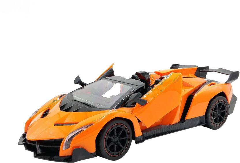 Miss   Chief Venneno Style RC Car With Fully Function Doors Orange  Miss   Chief Remote Control Toys