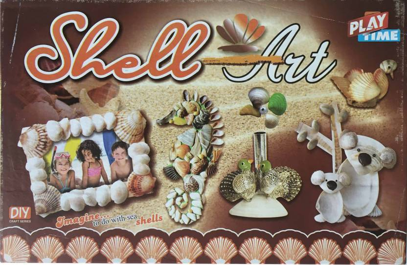 Playtime shell art game for kids craft kits do it yourself stick playtime shell art game for kids craft kits do it yourself stick different solutioingenieria Image collections