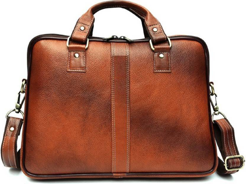 fb4b6fb1234e Herbalife Nutrition 15 inch Laptop Messenger Bag Large Briefcase - For Men    Women (Tan)