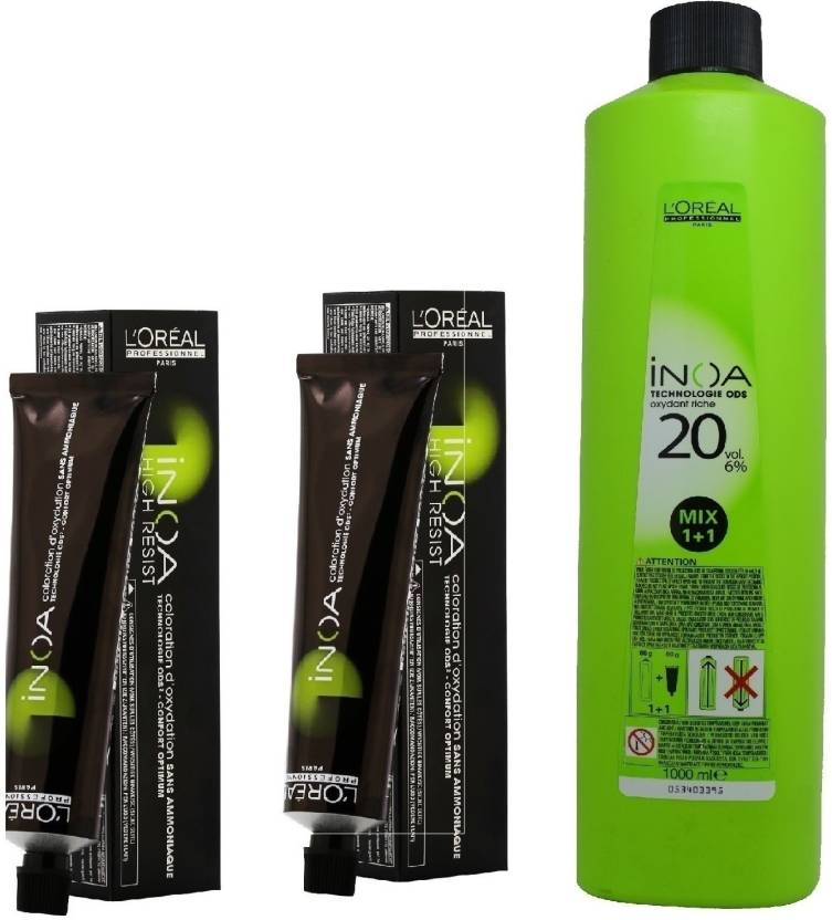 Loreal Inoa Ammonia Free Permanent Colour 456 Mahogany Red Brown2