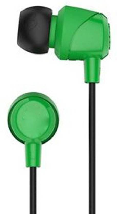 5857befc766 mobitobi SK-JIB SKULLCANDY Wired Headset with Mic (Green, In the Ear)