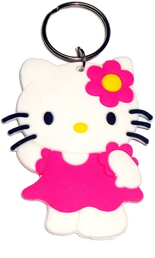 GCT Double Sided Hello Kitty on Bicycle Cartoon Movie Character Pink Rubber (Design-2) Keyring for Men Women Boys Girls Kids Car Bike Key Chain Price in ...