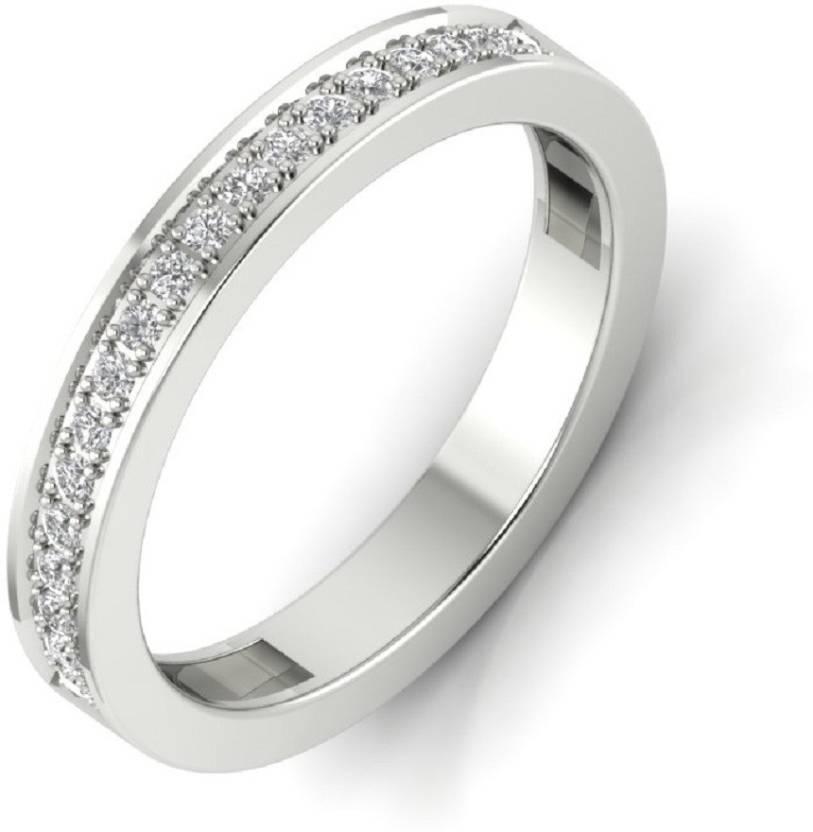 62b7dbca5 JEWELBAY Sterling Silver, Silver Swarovski Zirconia, Swarovski Crystal  Platinum Plated Ring Price in India - Buy JEWELBAY Sterling Silver, Silver  Swarovski ...