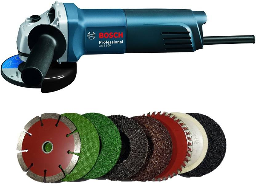 Bosch GWS 600 grinder with 8 high quality 4-inch wheels for cutting  grinding buffing application Angle Grinder
