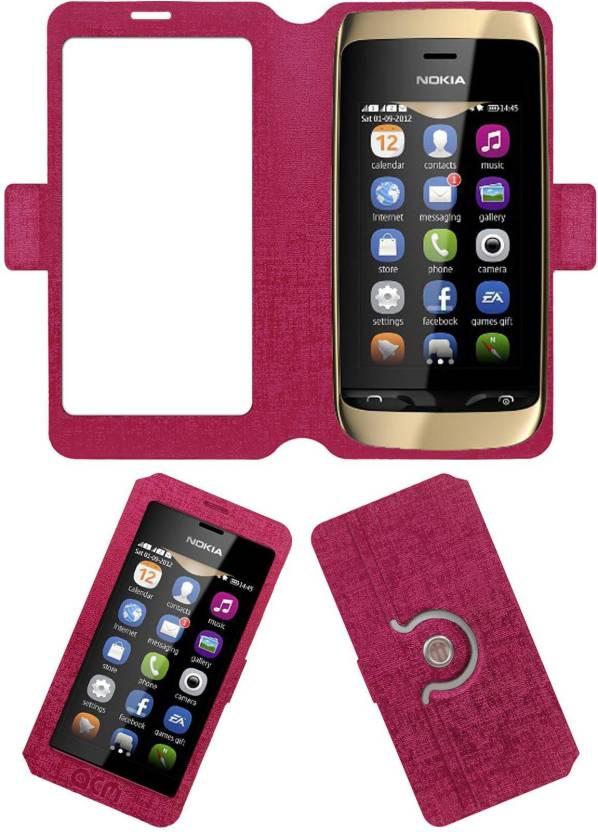 new products 00ba9 d0bd6 ACM Flip Cover for Nokia Asha 308 - ACM : Flipkart.com