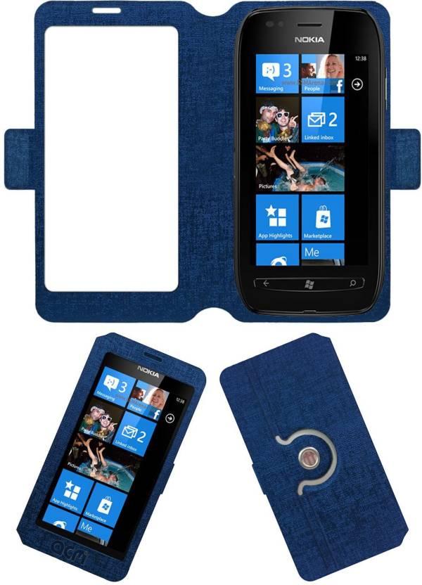 half off 21f1e c0bbe ACM Flip Cover for Nokia Lumia 710 - ACM : Flipkart.com