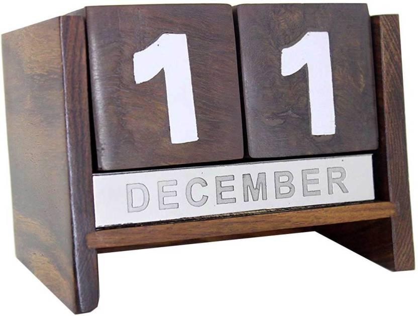 Flipkart Com Aps Craft 1 Compartments Wood Wooden Calendar